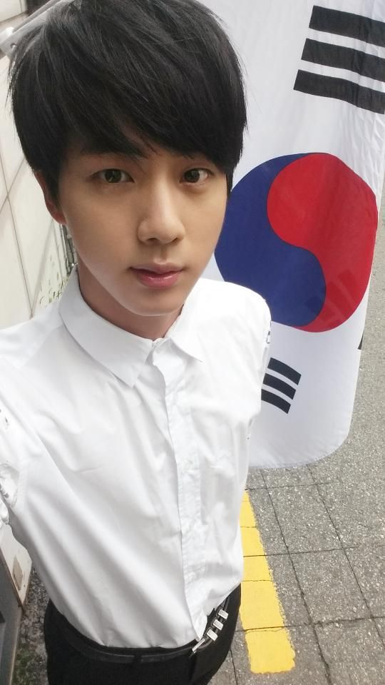 Happy Independence Day of South Korea ! BTS Jin (Twitter)