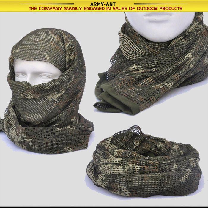 Ruso yeger Woodland Camo Tactical Malla Bufanda Wrap Máscara Shemagh Sniper Veil   Objetos de colección, Objetos militares, Excedentes   eBay!