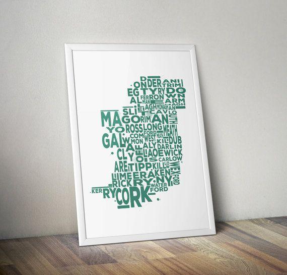 Irish Typography Ireland Print Design Printable Pub by TypeyThings