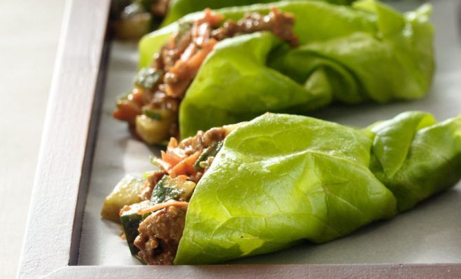 ***Kid Approved***  Asian Express Beef Lettuce Wraps