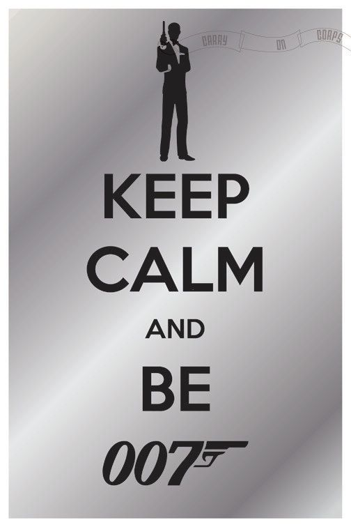 Keep Calm and Be 007. Maybe this is what Danial Craig was thinking the first time.