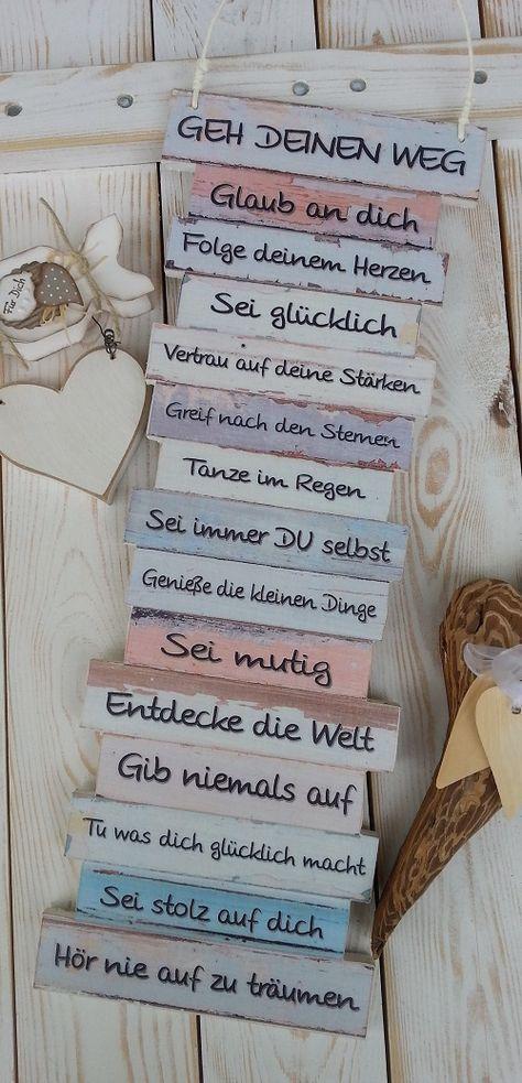 https://www.facebook.com/Puenktchenherz-1514083225528083/ und Besuch meinen Dawanda-Shop: http://de.dawanda.com/shop/Gifts-from-the-heart-by-Sunny Dekoschild Geh Deinen Weg