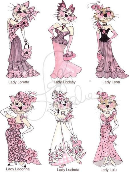 Lady Cats I Embroidery Design Collection CD by loraliedesigns, $59.00