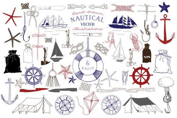 Nautical & Knot Vector Illustrations by becky nimoy on Creative Market