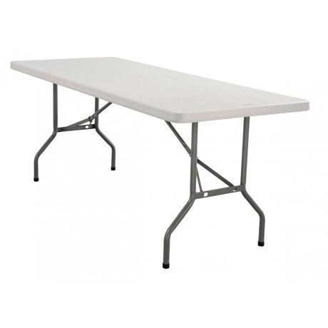 Mesa plegable rectangular 240 cm | Tusmesasplegables.com