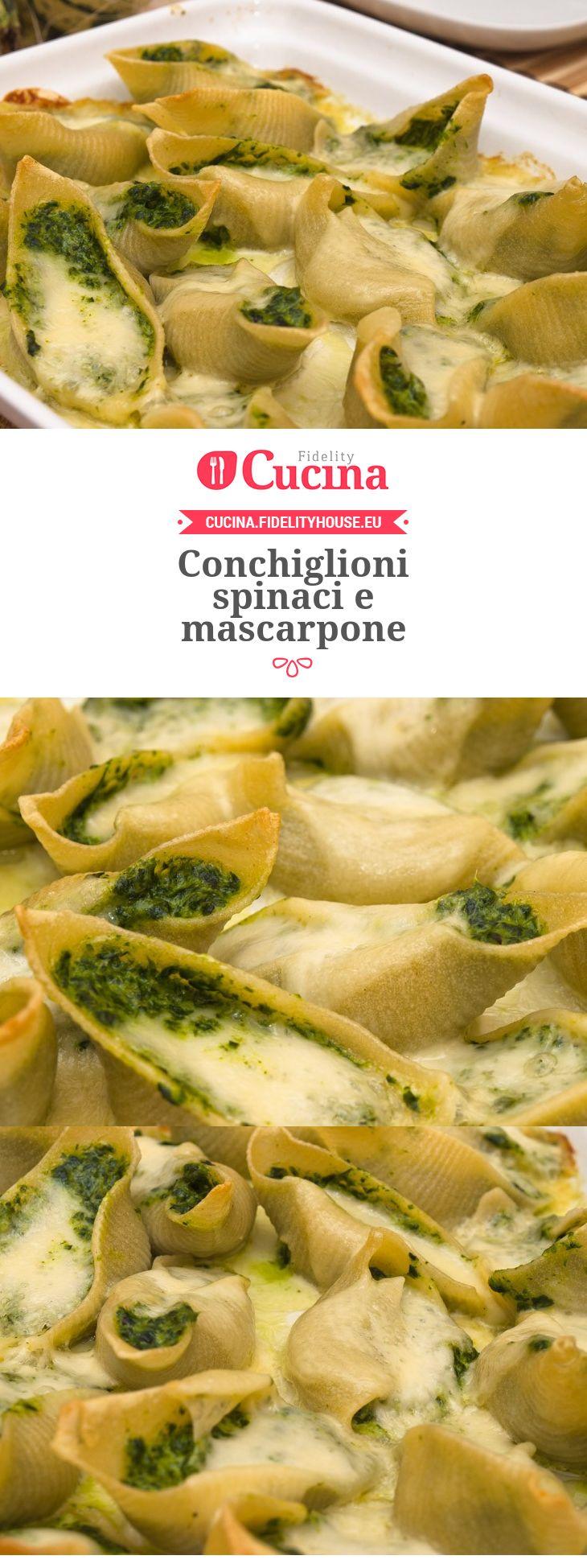 Conchiglioni spinaci e mascarpone