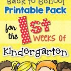 We all know how important those first few days and weeks of Kindergarten can be.  I designed this pack with the busy (and exhausted!) Kindergarten ...