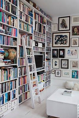I want a bookcase so big that I have to use a ladder to get to the books.