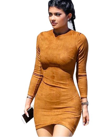 Kylie Jenner Inspired Suede Dress