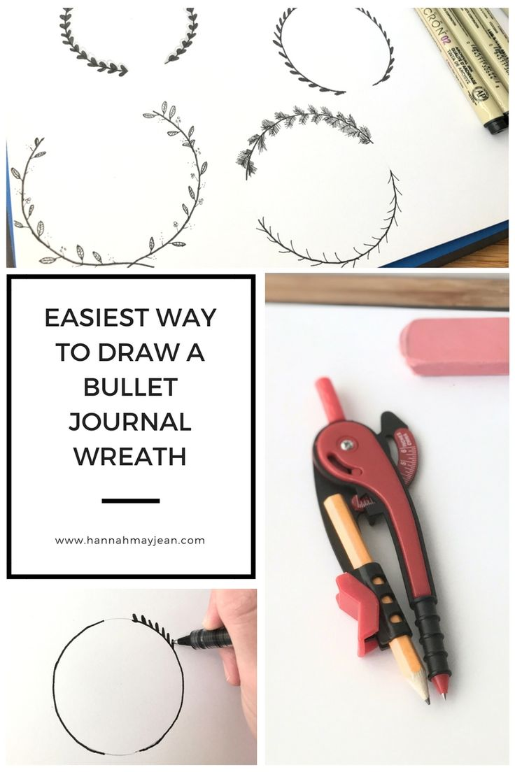 Learn how to draw a beautiful wreath for your bullet journal in a few EASY steps.