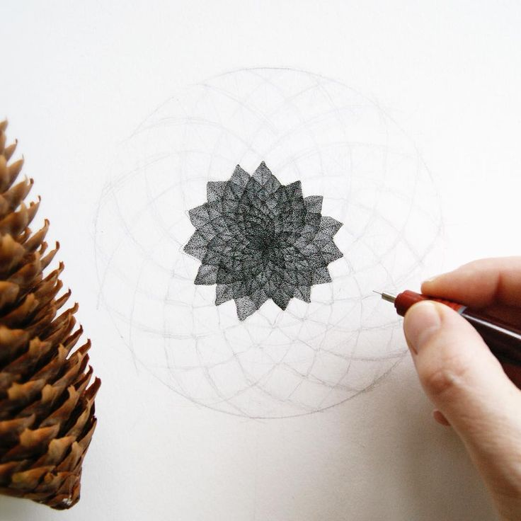 #ConiferCone #Circle #Pointillism #Cone Star, Overlapping circles grid, Sacred geometry, Product design - Photo by @pet_and_dot - Follow #extremegentleman for more pics like this!