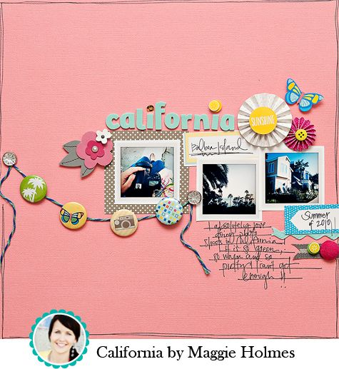 by Maggie Holmes: Scrapbook Ideas, Scrapbook Layouts, Pin Garlands, Color, Banners Garlands, Layout Maggie, Papercraft Scrapbook, American Crafts, Flair Banners