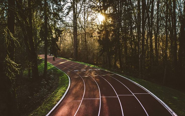 Nike headquarters in Oregon. I want to run on this track.