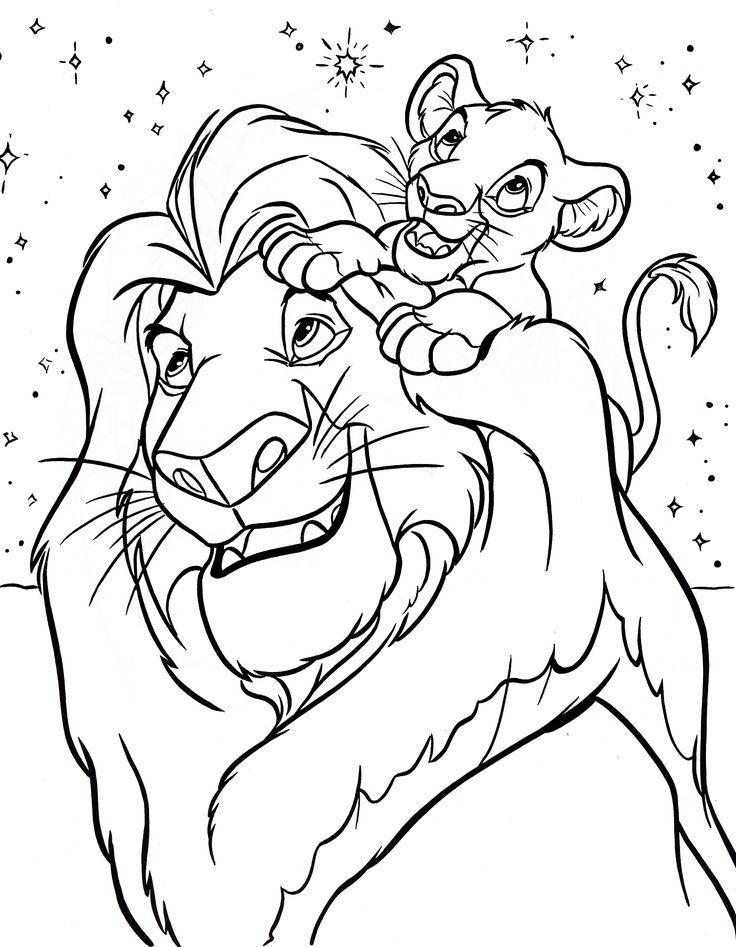 disney coloring pages mufasa simba walt characters photo   thingkid.