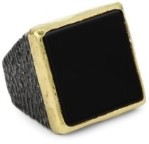 "Stella Flame ""Byzantia"" 24K Onyx Ring is handcrafted in the heart of Istanbul by master jewelers Price: $1,955.00"