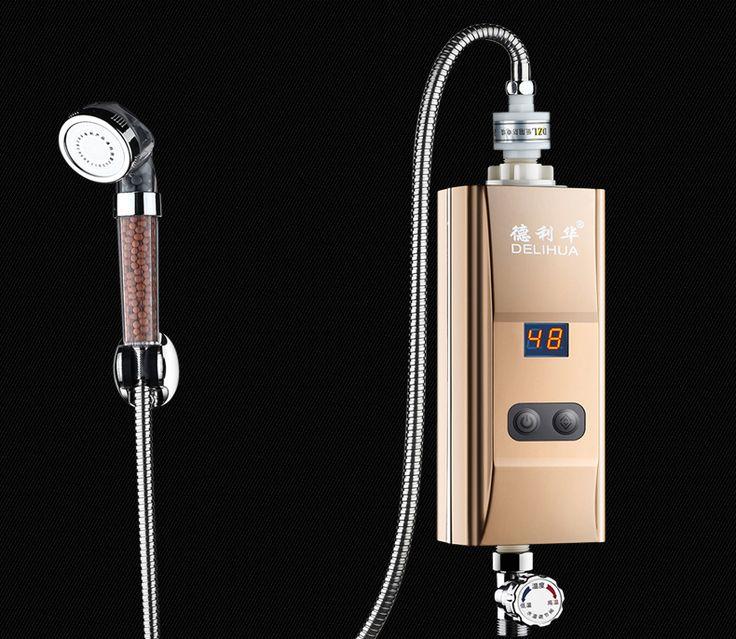 Bodem waterstroom inlaat warmwaterkraan instant tankless Keuken Elektrische boiler verwarming kraan douche Heater