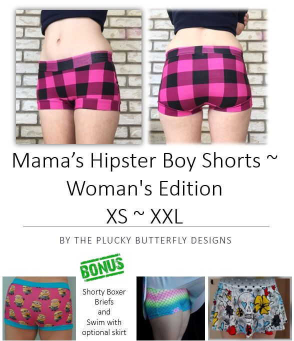 Looking for your next project? You're going to love Mama's Hipster Boy Shorts by designer The Plucky Butterfly Designs.