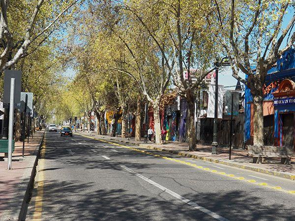 Pio Nono in Barrio Bella Vista. Santiago, Chile