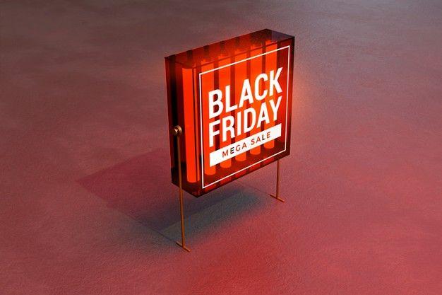 Download Black Friday Concept Light Box Mockup Box Mockup Light Box Mockup