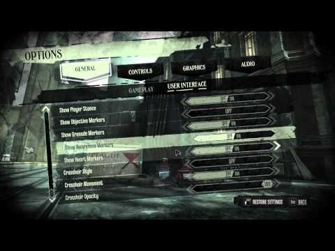 Dishonored PC menu options - YouTube