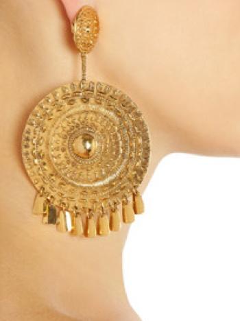 Pachacamac 18-karat gold-plated medallion #earrings by Aurélie Bidermann  from blog http://geeliciouspassion.wordpress.com/2012/05/31/ethnicity/