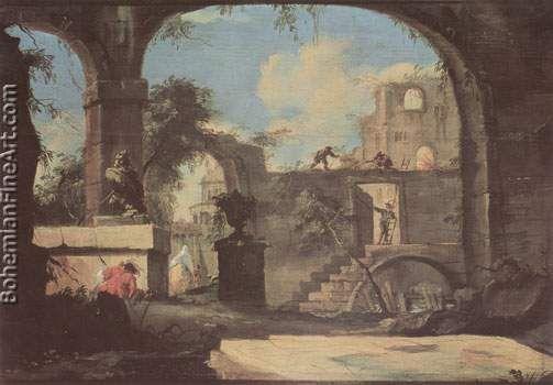 Francesco Guardi, Caprice II Fine Art Reproduction Oil Painting
