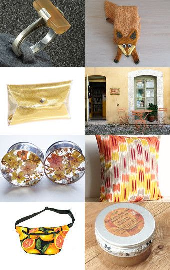 orange, yellow, sunny by Ursula on Etsy--Pinned with TreasuryPin.com