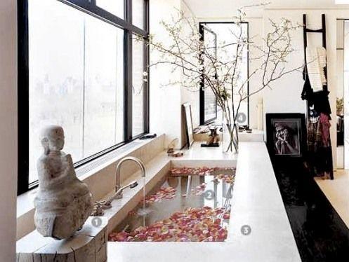 zen luxury: Bathroom Design, Modern Bath, Kourtney Kardashian, Bathtubs, Beautiful Bathroom, Givenchy, Bathroom Ideas, House, Kardashian Kollection