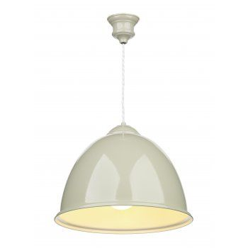 The David Hunt Lighting Collection EUSTON double insulated French cream ceiling pendant
