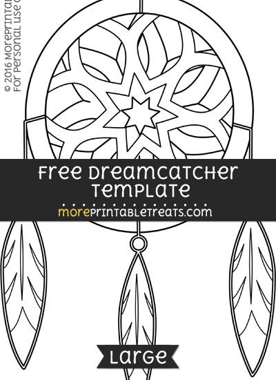 free dreamcatcher template large ideas for work pinterest