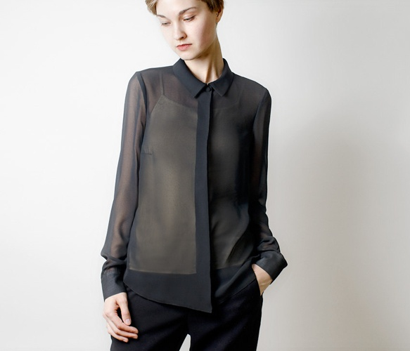 I'm in love with chiffon this season. See here: Black chiffon blouse {Style Horse}