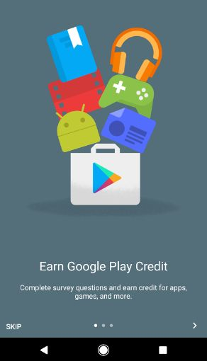 Google Rewards Phone Screen