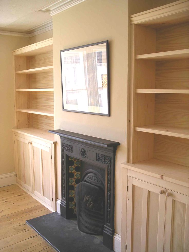 Victorian style cupboards bespoke made in alcoves