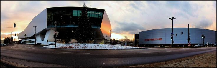 Porsche Platz, Zuffenhausen, Stuttgart, Germany, Christmas Time