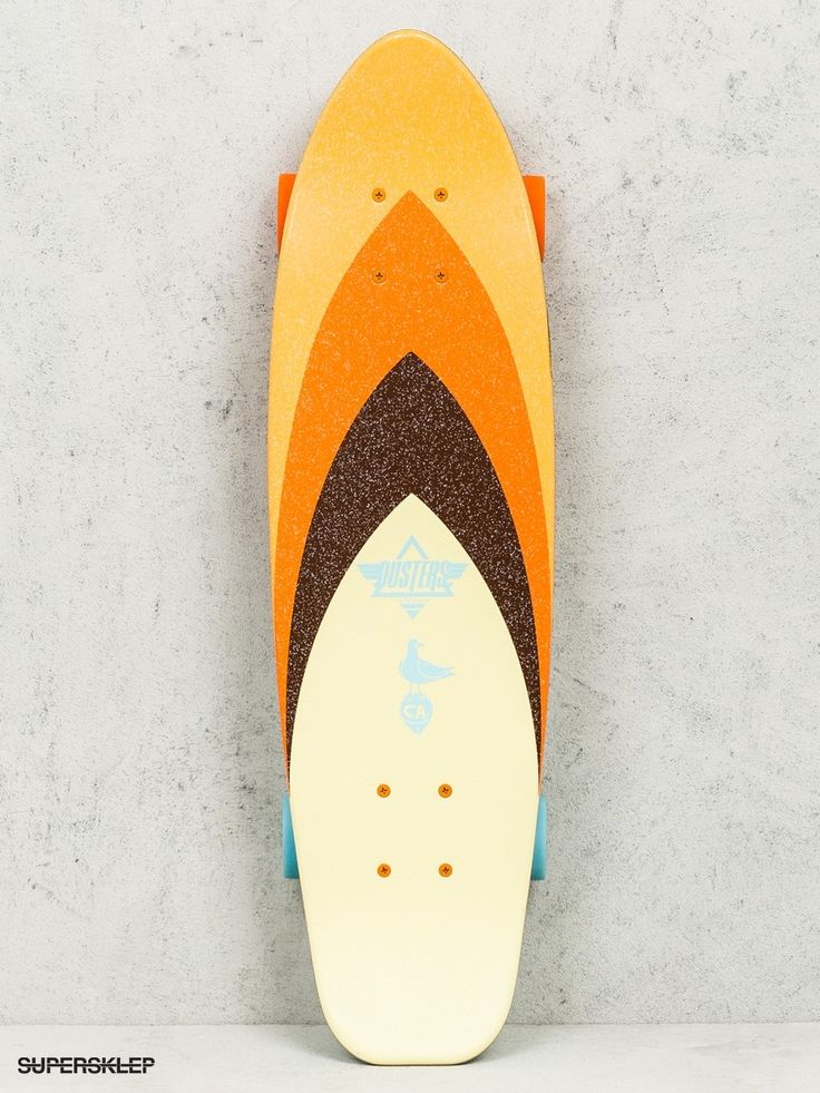 Deskorolka cruiser Dusters California Bird (orange/brown/blue)