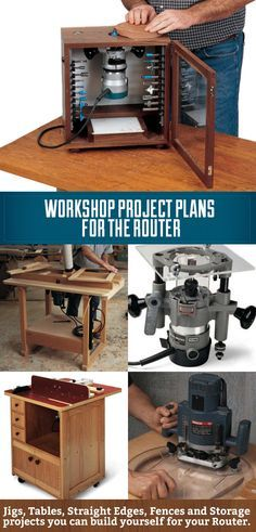 Workshop Project Plans for the Router! From DIY router tables to DIY router jigs…