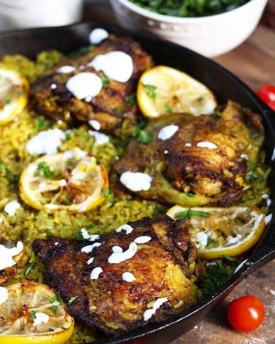 One Pot Middle Eastern Chicken And Rice Recipe Food Recipe