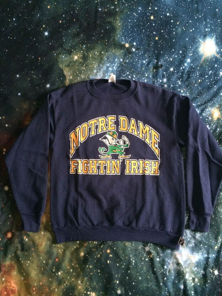 Vintage Notre Dame Fighting Irish Sweatshirt by VintageVanShop on Etsy