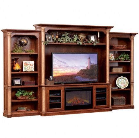 Jefferson Entertainment Center with Fireplace