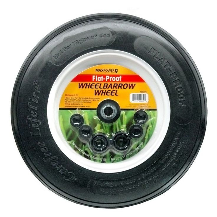 Maxpower 8 in. Flat Proof Wheelbarrow Wheel