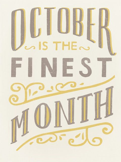 October Is The Finest Month by illustrator and designer Danielle Kroll.