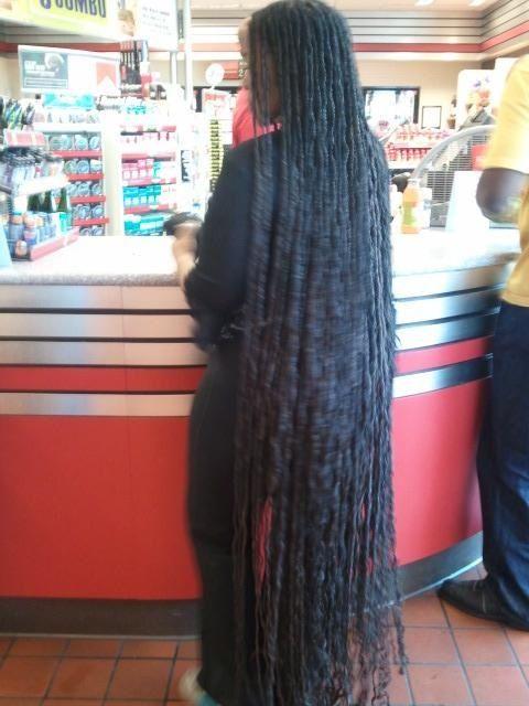 Very long dreads