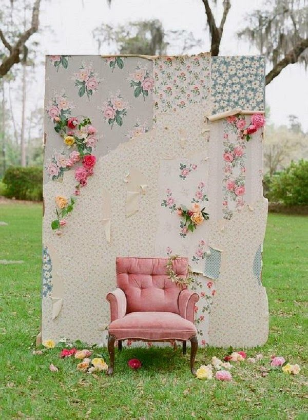 """SHABBY CHIC WEDDINGS...I love this for like """"photo booth"""" type of pics"""