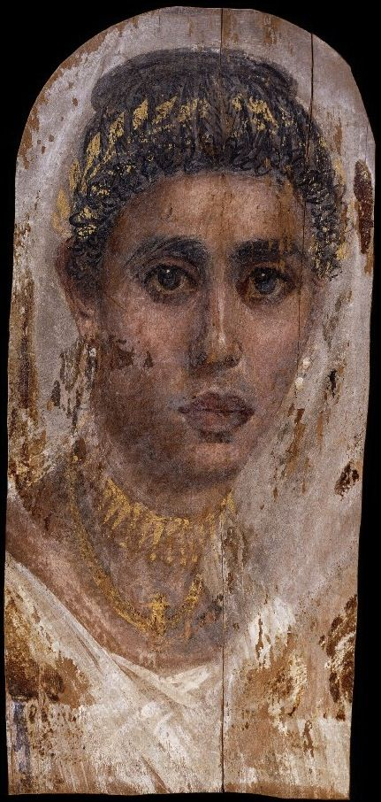 Portrait of a young woman with a gilded wreath | Roman