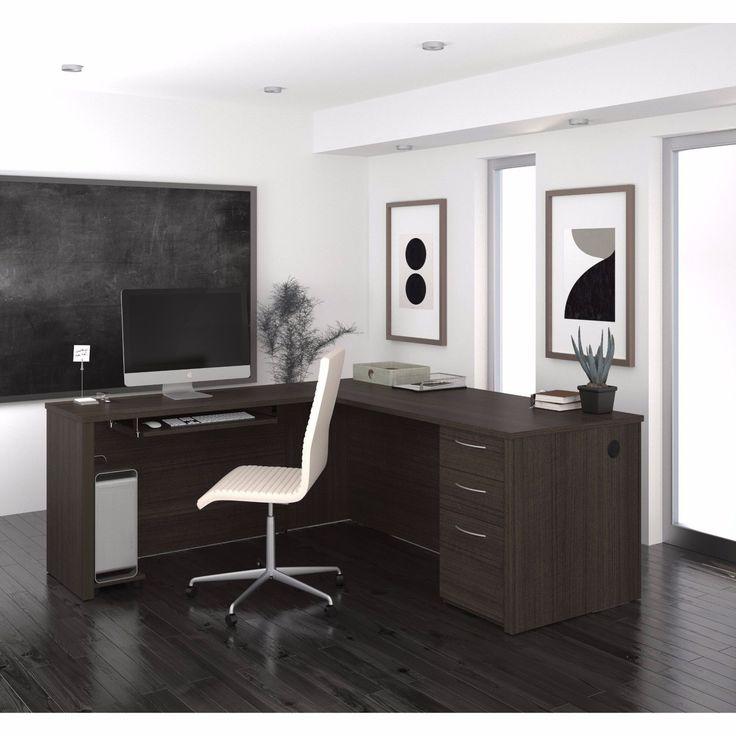 L Shaped Angle Desk Home Office Secretary Furniture File Drawers Keyboard-Shelf | eBay