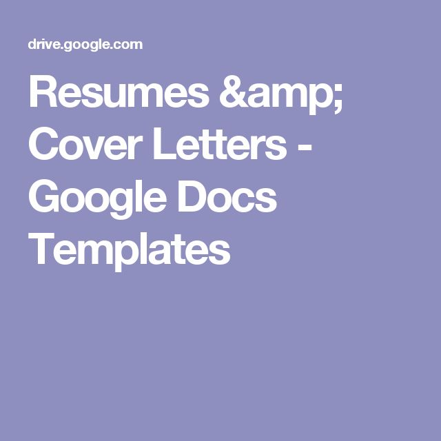 Resumes \ Cover Letters - Google Docs Templates CMCI Resume - google cover letters