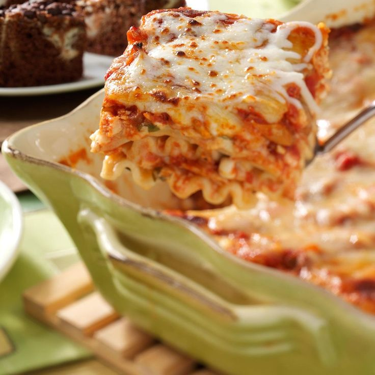 Herbed Chicken Lasagna Recipe -For a cooking class several years ago, I lightened up a classic lasagna and created this chicken version. It was preferred over the traditional dish in taste tests in my class and by my family and friends as well. —Dena Stapelman, Laurel, Nebraska