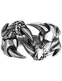 2,00 € -  HMILYDYK banda de anillo de garra de Dragón de acero inoxidable 316L Vintage, Biker Gótico Punk Rock de Moda para las mujeres hombres