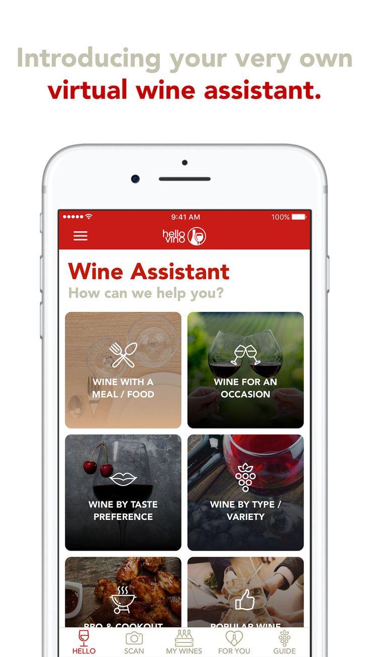 Hello Vino Wine Assistant LifestyleDrinkappsios How