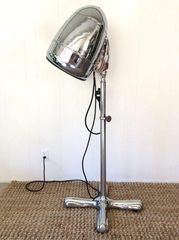 1930s Isana Zephyr Chrome-Plated Steel Salon Hair Dryer